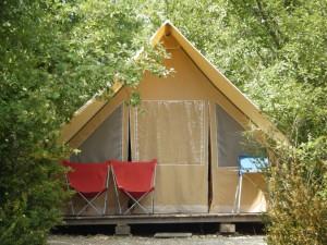Tente trappeur clareau - camping drome provencale - la Ferme de Clareau